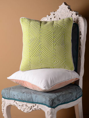 Light Green Contour Cushion Cover  16in x 16in