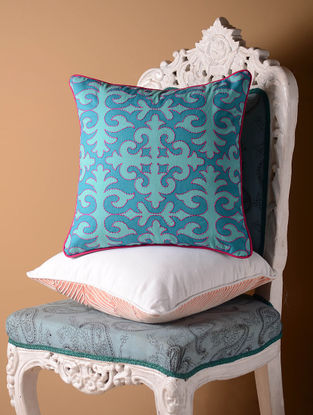 Blue Shrydak Cushion Cover  16in x 16in