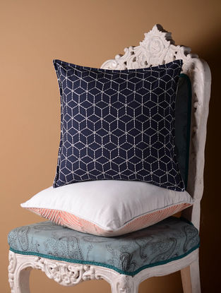 Indigo Jali Cushion Cover  16in x 16in