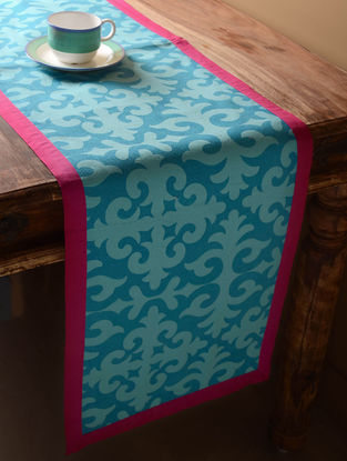 Blue Shrydak Table Runner  60in x 14in