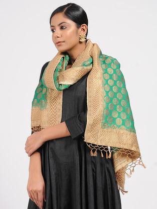Green Benarasi Muga Silk Stole