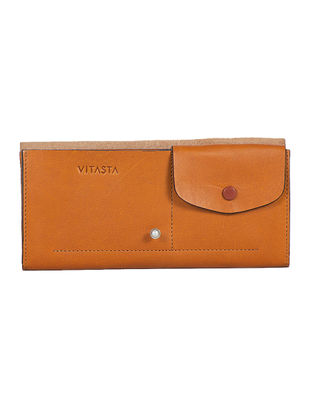 Tan Handcrafted Leather Wallet