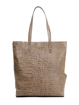 Beige Hand-Crafted Leather Tote