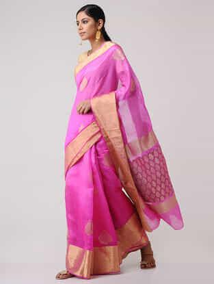 Pink Dupion Silk Saree