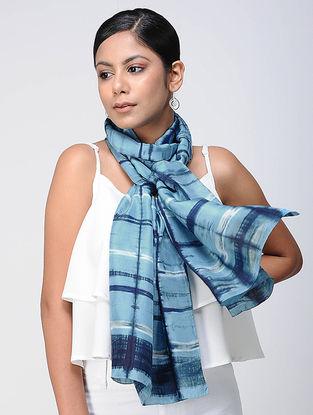 Blue Shibori silk Scarf
