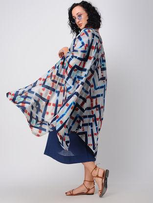Multicolored Shibori Silk Overlay