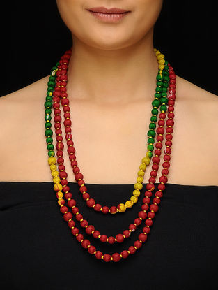 Multicolored Upcycled Silk Saree Necklace
