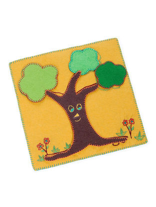 Yellow-Green Embroidered Tree Puzzle
