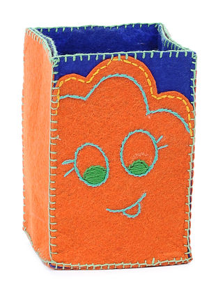 Orange Embroidered Pencil Stand