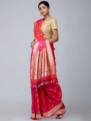 Buy Handwoven Cotton Amp Silk Sarees Online At Jaypore Com