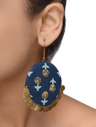Indigo Embellished Earrings