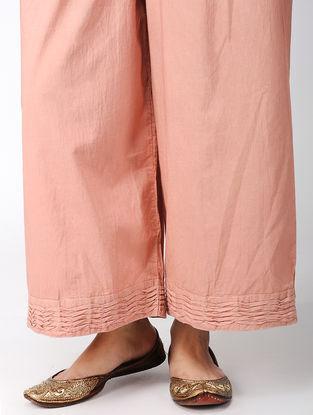Peach Cotton Pants