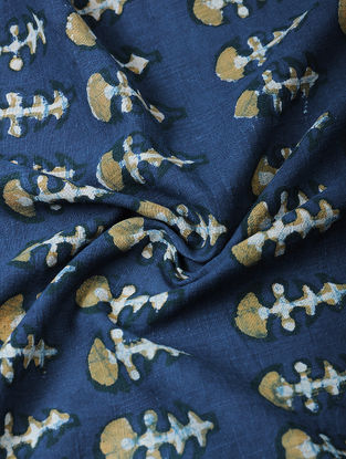 Indigo Ajrakh-printed Cotton Fabric