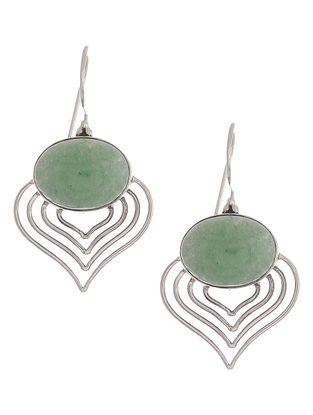 Green Aventurine Silver Earrings