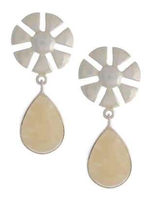 Yellow Aventurine Silver Earrings