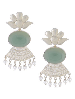 Chalcedony Silver Earrings