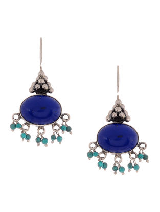 Lapis Lazuli and Turquise Silver Earrings