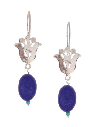 Lapis Lazuli and Turquoise Silver Earrings