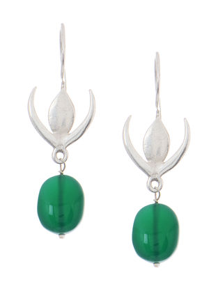 Green Quartz Silver Earrings