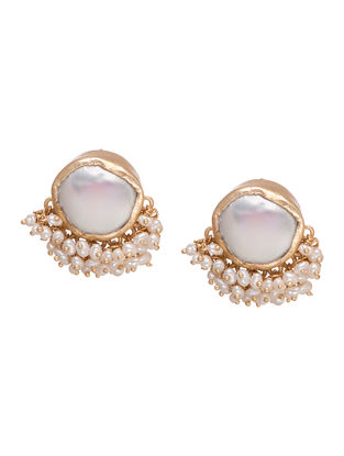 Its A Girl Thing Baroque Gold-plated Brass Pearl Beaded Earrings