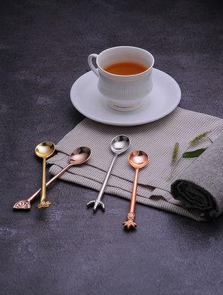 Multicolored Brass Teaspoons (Set of 4)
