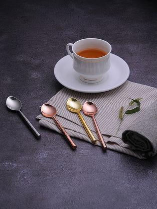 Multicolored Stainless Steel Teaspoons (Set of 4)