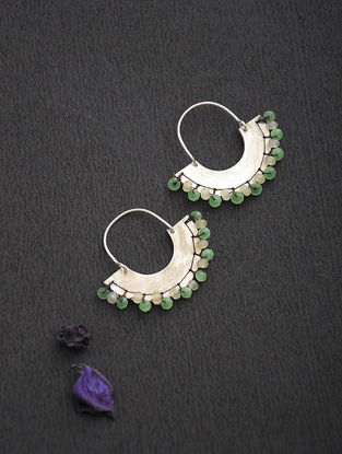 Peridot and Citrine Silver Earrings
