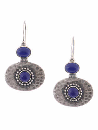 Lapis Lazuli Silver Earrings