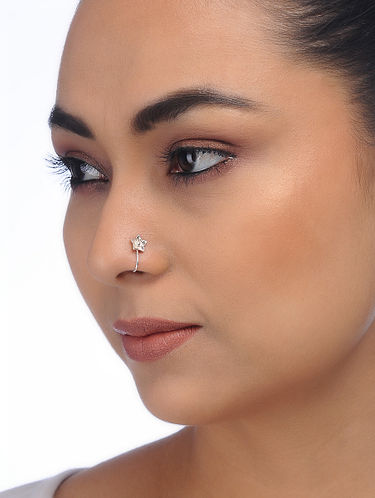 pierced nose Nose jewelry Body jewelry Nose ring Ox Star Nose pin Oxidized Silver Large Indian Nose pin Star Nose pin non silver