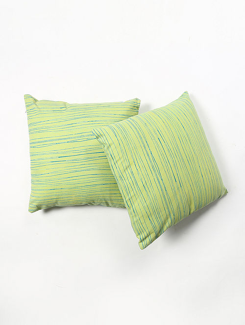 Contrast Living Chandie Cotton Printed Cushion Covers (Set of 2) (20in x 20in)