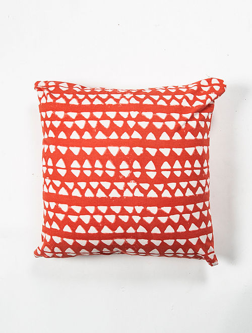 Contrast Living Ghoti Cotton Printed Cushion Covers (Set of 2) (20in x 20in)