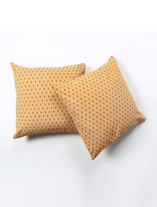 Contrast Living Harie Cotton Printed Cushion Covers (Set of 2) (20in x 20in)