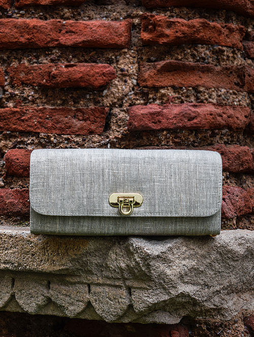 Grey Handcrafted Cotton Sling Bag