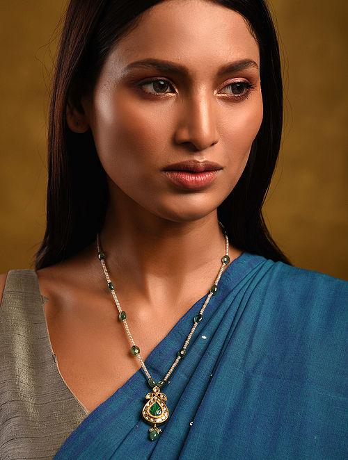 Gold Polki Emerald Necklace