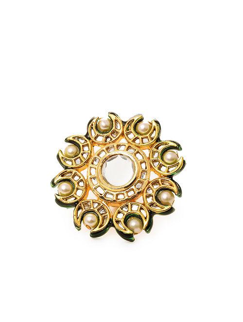 Gold Tone Kundan Ring