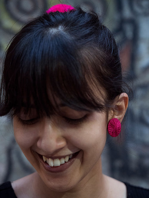 Pink Handcrafted Earrings