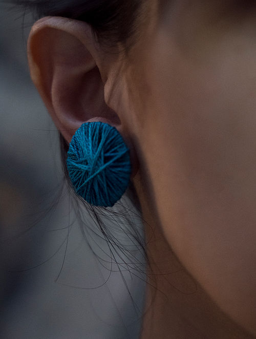 Blue Handcrafted Earrings