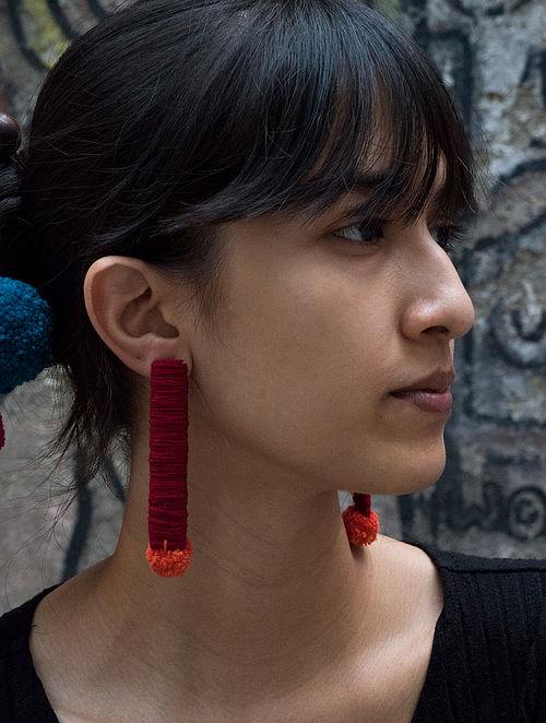 Red Orange Handcrafted Earrings