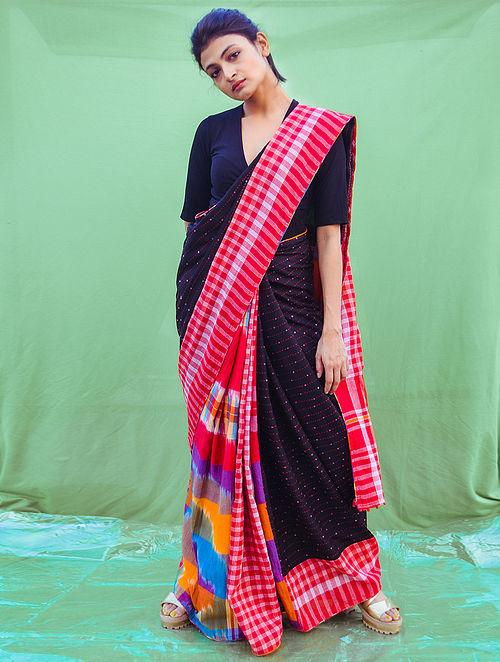 Multicolour Gamcha  Cotton Saree