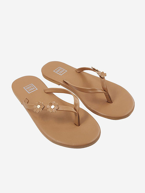 Nude Handcrafted Faux Leather Slip Ons