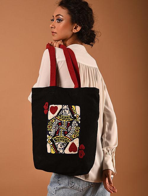 Multicolored Handmade Canvas Cotton Tote Bag