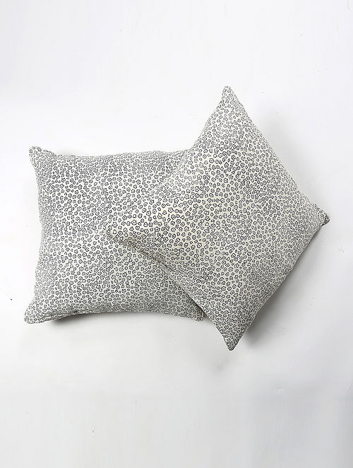 Raosin Cotton Printed Cushion Cover Set of 2 (20in X 20in)