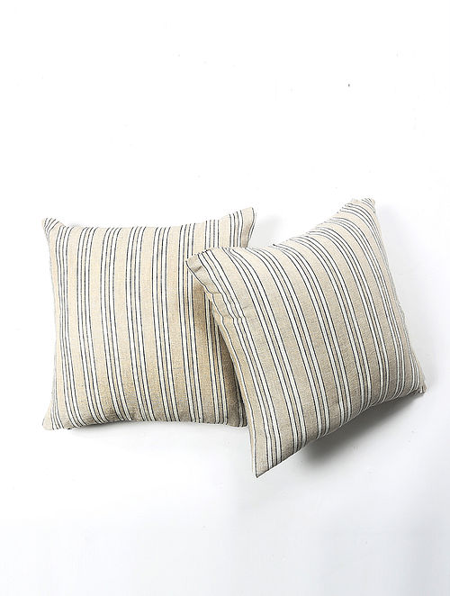 Sakiesh linen  Printed Cushion Cover Set of 2 (20in X 20in)