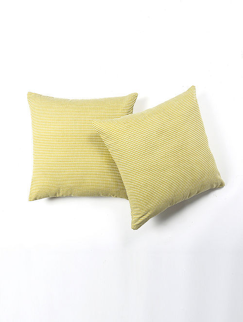 Fulie Cotton Printed Cushion Cover Set of 2 (20in X 20in)