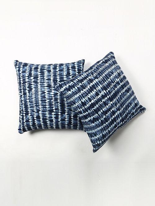 Hardik Cotton Printed Sibori Print Cushion Cover Set of 2 (20in X 20in)