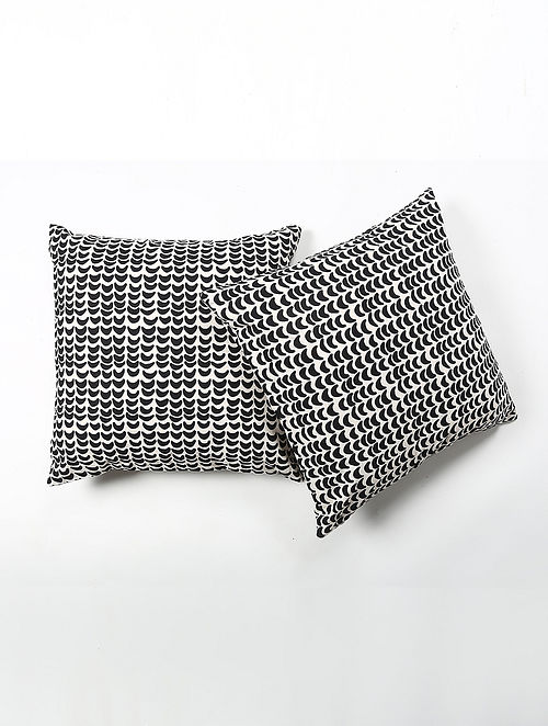 Koyal Cotton Printed Cushion Cover Set of 2 (20in X 20in)
