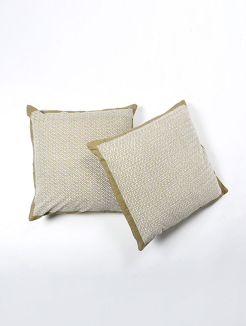 Sarla Cotton Printed Cushion Cover Set of 2 (20in X 20in)
