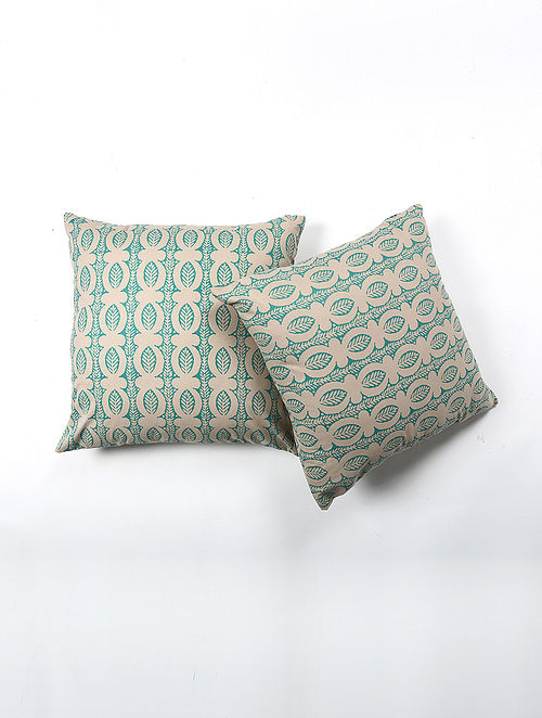 Sural Cotton Printed Cushion Cover Set of 2 (20in X 20in)