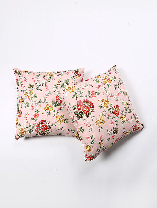 Radhey Cotton Printed Cushion Cover Set of 2 (20in X 20in)