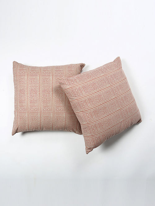 Sanjays Cotton Printed Cushion Cover Set of 2 (20in X 20in)